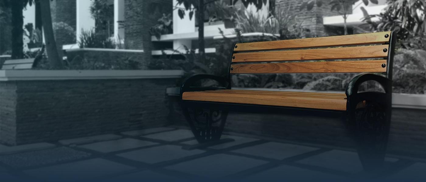 kursi taman besi cor